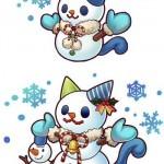 クリスマス限定キャラ?可愛い雪だるまのイラスト公開