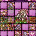 傾奇桜サコンをリーダーにして影桜の迷宮【冥】桜吹雪の獣をクリアしてサモミンクルGET!