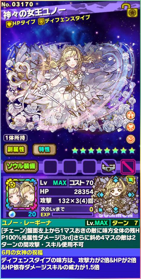 神々の女王ユノー